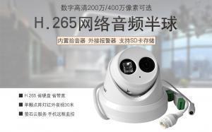海康威视音频摄像头 200万/400万可插卡录像音频半球 监控摄像机探头200万DS-2CD3325
